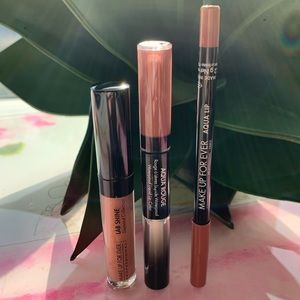 Makeup Forever Tease Me Innocent Nude Lip Trio NEW
